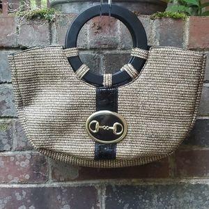 Wicker straw hobo bag **vintage**